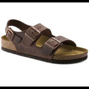 Birkenstock MILANO oiled leather sandal 39 L8/M6